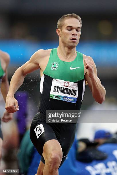Nicholas Symmonds competes in the men's 800 meter final during Day Four of the 2012 US Olympic Track Field Team Trials at Hayward Field on June 25...