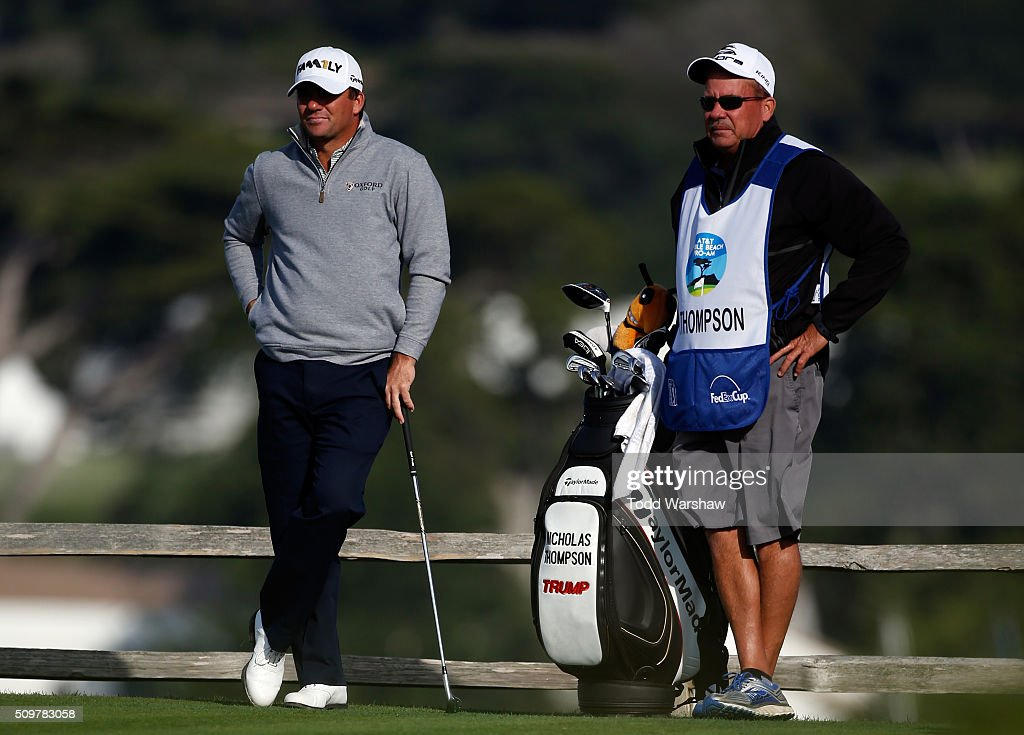 <a gi-track='captionPersonalityLinkClicked' href=/galleries/search?phrase=Nicholas+Thompson+-+Golfer&family=editorial&specificpeople=7179524 ng-click='$event.stopPropagation()'>Nicholas Thompson</a> prepares to play his tee shot on the seventh hole during the second round of the AT&T Pebble Beach National Pro-Am at the Pebble Beach Golf Links on February 12, 2016 in Pebble Beach, California.