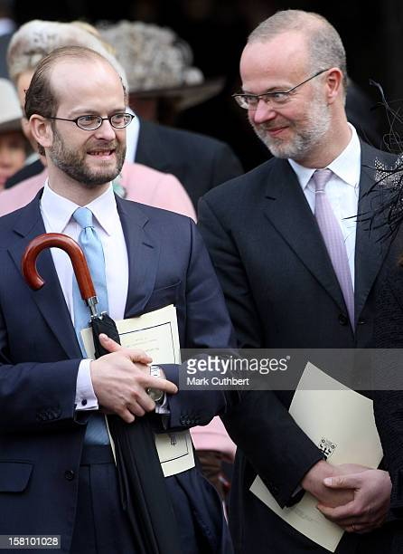 Nicholas Windsor And George Windsor Attend A Service Celebrating Queen Elizabeth Ii And Prince Philip The Duke Of Edinburgh'S 60Th Diamond Wedding...