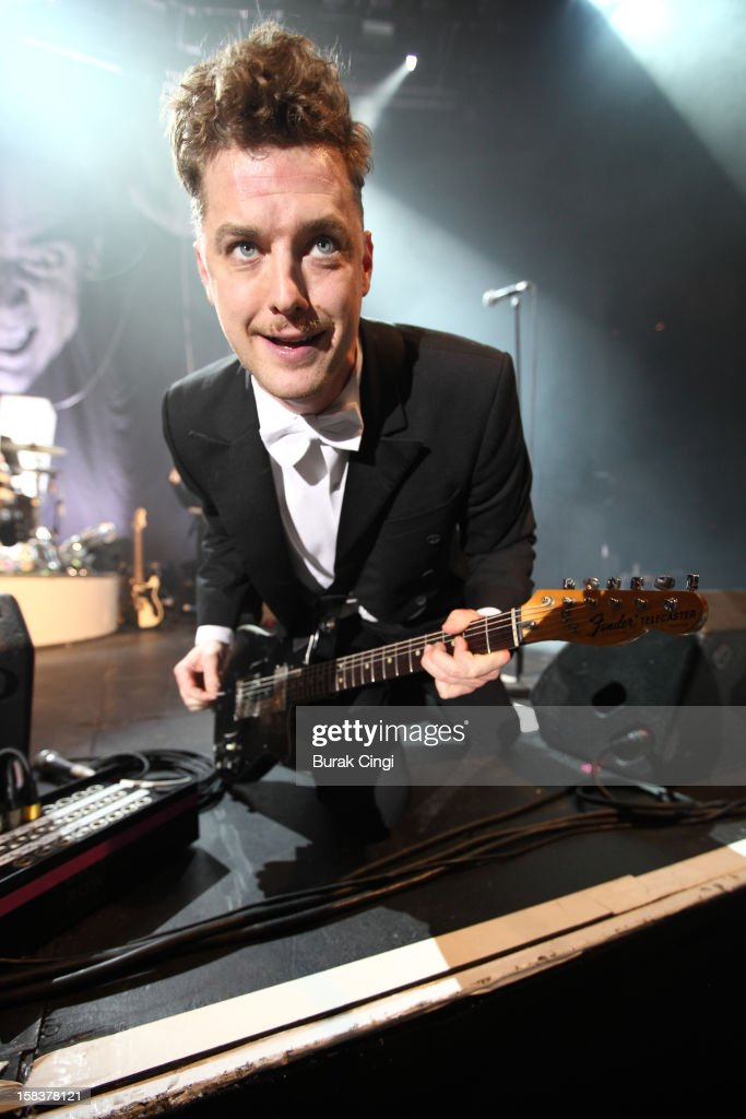 Nicholaus Arson of The Hives performs at The Roundhouse on December 14, 2012 in London, England.