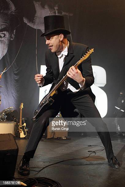 Nicholaus Arson of The Hives performs at The Roundhouse on December 14 2012 in London England