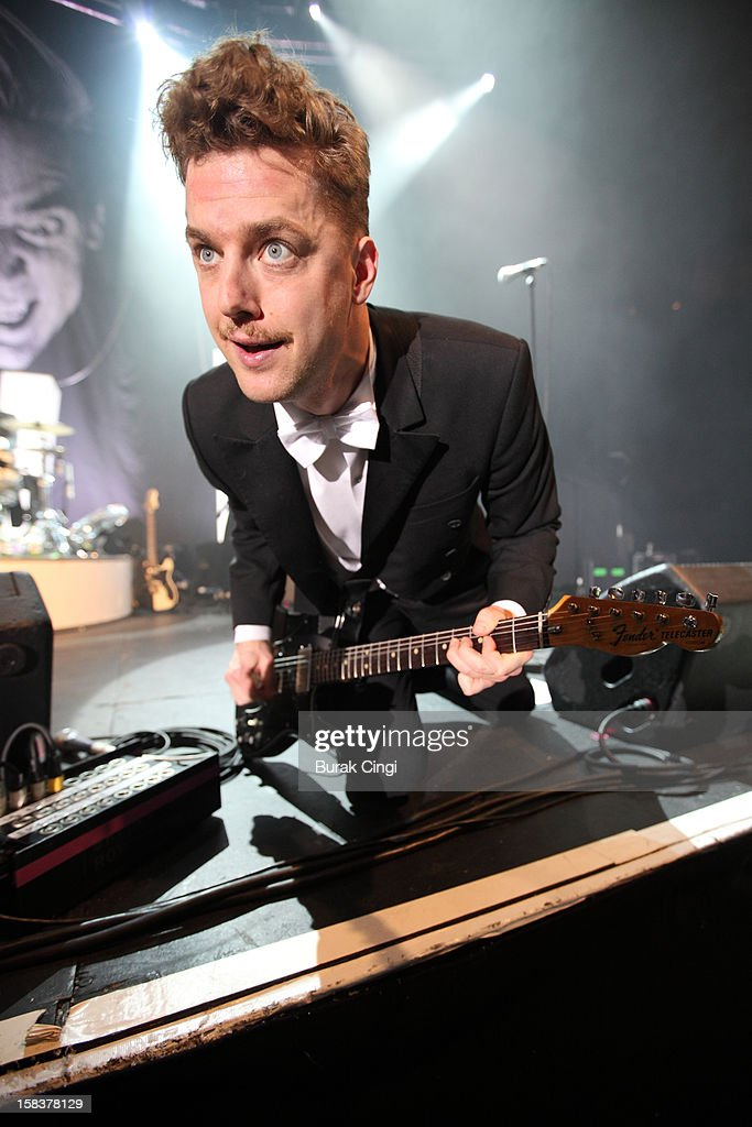 <a gi-track='captionPersonalityLinkClicked' href=/galleries/search?phrase=Nicholaus+Arson&family=editorial&specificpeople=228515 ng-click='$event.stopPropagation()'>Nicholaus Arson</a> of The Hives performs at The Roundhouse on December 14, 2012 in London, England.
