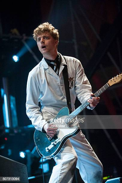 Nicholaus Arson of The Hives performs on stage at Antiga Fabrica Damm on September 26 2009 in Barcelona Spain