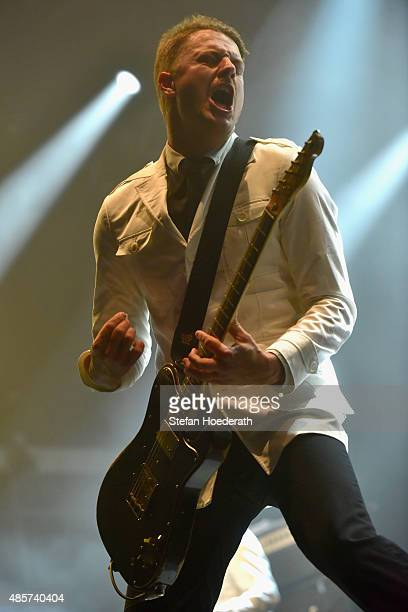 Nicholaus Arson ofThe Hives performs on stage at the Pure Crafted Festival 2015 on August 29 2015 in Berlin Germany