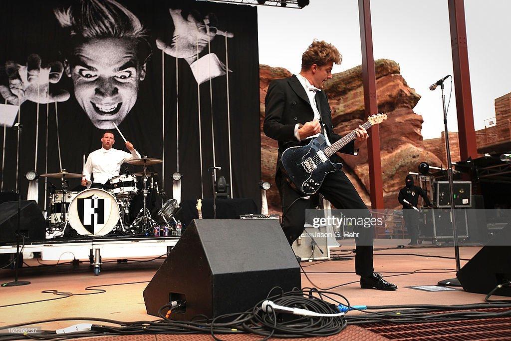 Nicholaus Arson (Niklas Almqvist) performs at Red Rocks Amphitheatre on September 16, 2012 in Morrison, Colorado.
