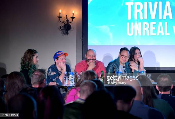 Nichole Bloom Ben Feldman Colton Dunn Nico Santos and Lauren Ash participate in the 'Unreal vs Superstore PopCulture Trivia Game Show' panel during...