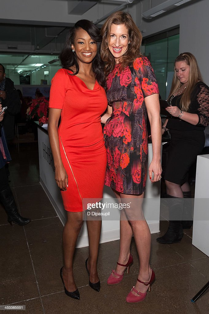 Nichole Galicia (L) and <a gi-track='captionPersonalityLinkClicked' href=/galleries/search?phrase=Alysia+Reiner&family=editorial&specificpeople=655685 ng-click='$event.stopPropagation()'>Alysia Reiner</a> attend the H.H. Brown Shoe Company Season Of Giving Holiday Party on December 3, 2013 in New York City.