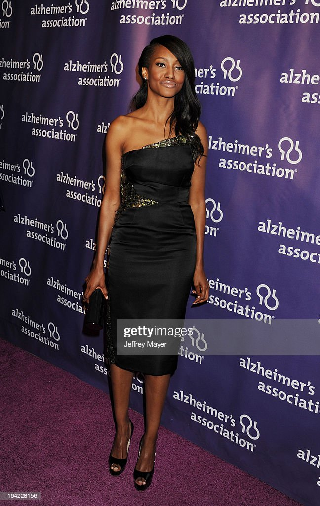 Nichole Galicia arrives at the 21st Annual 'A Night At Sardi's' to benefit the Alzheimer's Association at The Beverly Hilton Hotel on March 20, 2013 in Beverly Hills, California.