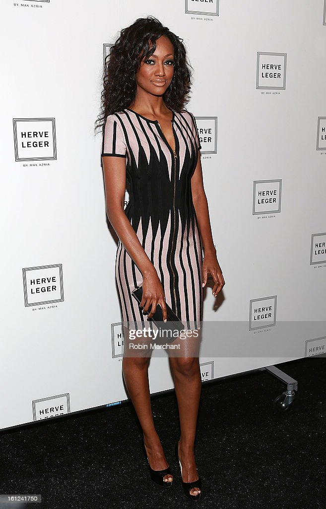 Nichole Galicia attends Herve Leger By Max Azria during Fall 2013 Mercedes-Benz Fashion Week at The Theatre at Lincoln Center on February 9, 2013 in New York City.
