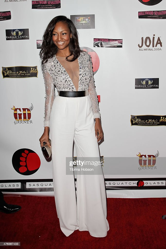 Nichole Galicia attends the 4th annual salute to the stars Oscar party at W Hollywood on March 2, 2014 in Hollywood, California.