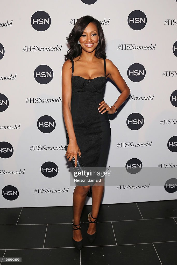 Nichole Galicia attends the celebration of HSN Digital Redesign at Marquee New York on January 16, 2013 in New York City.