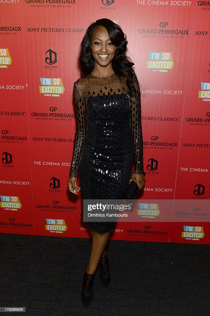 Nichole Galicia attends the Girard-Perregaux and The Cinema Society with DeLeon screening of Sony Pictures Classics' 'I'm So Excited' on June 6, 2013 in New York City.