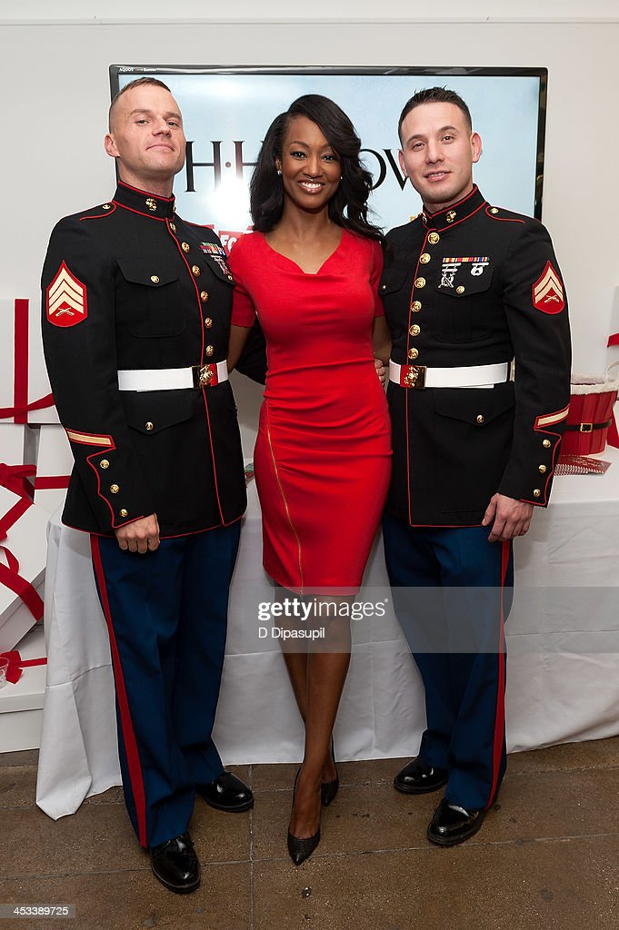 Nichole Galicia (C) attends the H.H. Brown Shoe Company Season Of Giving Holiday Party on December 3, 2013 in New York City.