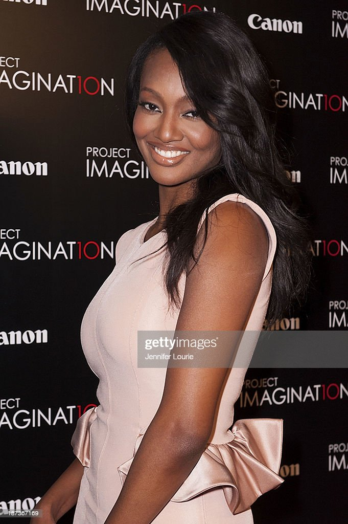 Nichole Galicia attends the Los Angeles screening for Canon's 'Project Imaginat10n' film festival at Pacific Theatre at The Grove on November 7, 2013 in Los Angeles, California.