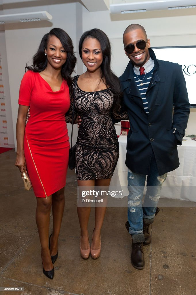 Nichole Galicia, Tashiana Washington, and Eric West attend the H.H. Brown Shoe Company Season Of Giving Holiday Party on December 3, 2013 in New York City.