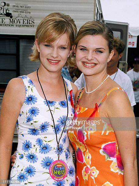 Nicholle Tom and Heather Tom during 1996 Nickelodeon Big Help at Santa Monica Pier in Santa Monica California United States