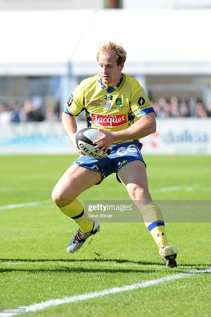 Nick Abendanon of Clermont during the French Top 14 rugby union match between Racing 92 v Clermont at Stade Yves Du Manoir on May 1, 2016 in Colombes, France.
