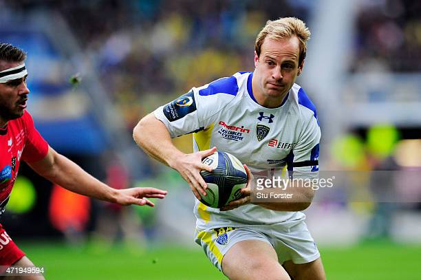 Nick Abendanon of Clermont makes a break during the European Rugby Champions Cup Final match between ASM Clermont Auvergne and RC Toulon at...