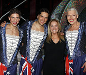 Nick Adams Will Swenson Kathie Lee Gifford and Tony Sheldon pose backstage at the new musical 'Priscilla Queen of the Desert' on Broadway at The...