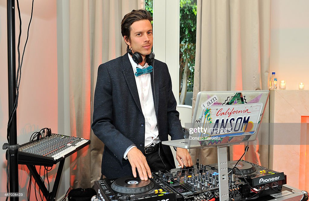 DJ Nick Ansom spins during Lanvin And Living Beauty Host An Evening Of Fashion on April 26, 2014 in Beverly Hills, California.