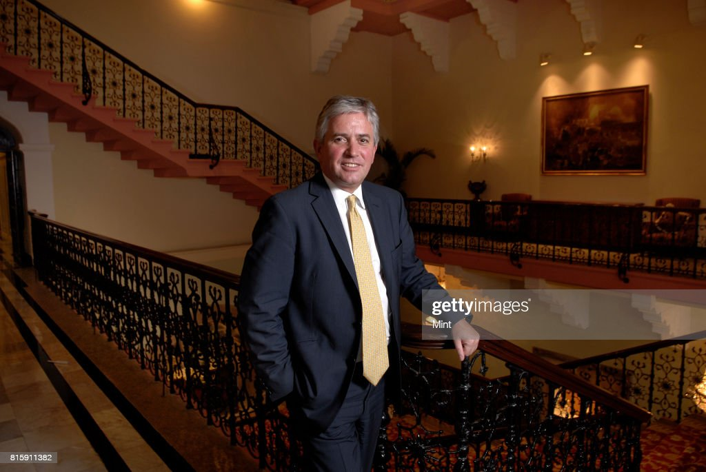 Nick Anstee, Lord Mayor of the City of London, photographed in Mumbai.