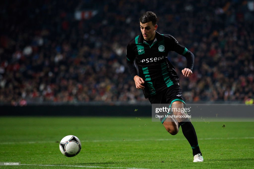 Nick Bakker of Groningen in action during the Eredivisie match between Ajax Amsterdam and FC Groningen at Amsterdam Arena on December 8, 2012 in Amsterdam, Netherlands.