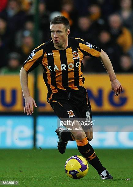 Nick Barmby of Hull City plays in the Barclays Premier League match between Hull City and Middlesbrough at the KC Stadium on December 6 2008 in Hull...