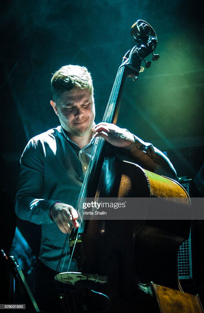 Nick Blacka of Gogo Penguin performs at KOKO on May 5, 2016 in London, England.