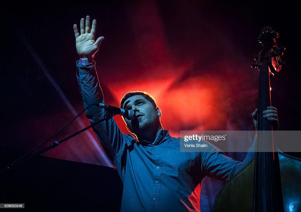 Nick Blacka of Gogo Penguin performs at KOKO on May 5 2016 in London England