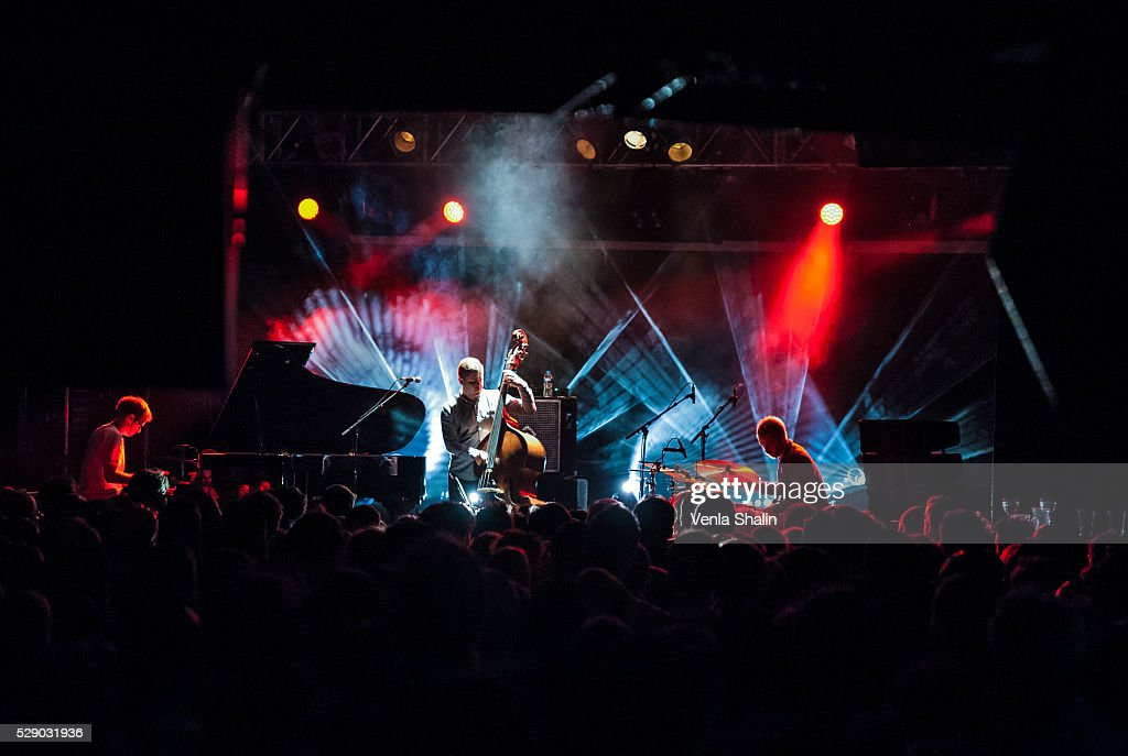Nick Blacka, Rob Turner and Chris Illingworth of Gogo Penguin performs at KOKO on May 5, 2016 in London, England.
