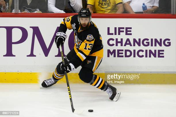 Nick Bonino of the Pittsburgh Penguins skates against the Nashville Predators in Game One of the 2017 NHL Stanley Cup Final at PPG Paints Arena on...