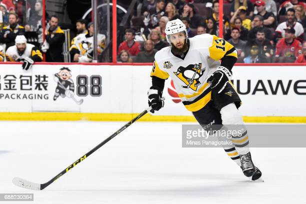 Nick Bonino of the Pittsburgh Penguins skates against the Ottawa Senators in Game Six of the Eastern Conference Final during the 2017 NHL Stanley Cup...