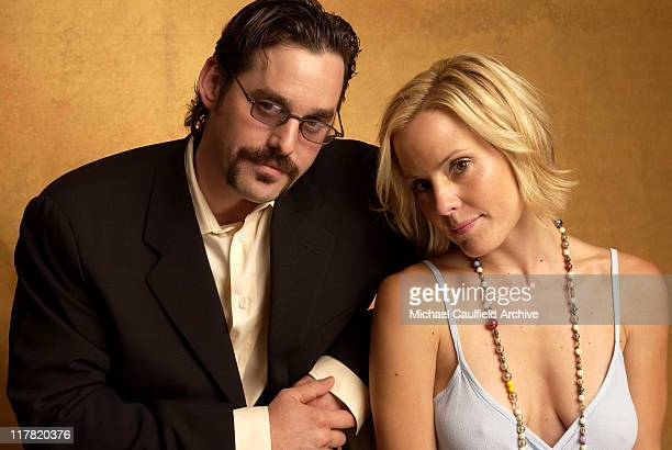 Nick Brendon and Emma Caulfield during 2003 Television Critics Association Portraits July 19 2003 at Hollywood Renaissance Hotel in Hollywood...