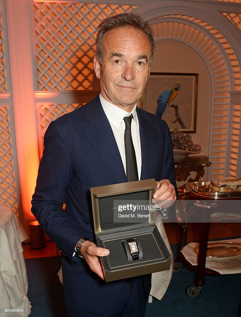 Nick Broomfield accepts his watch at The 8th Annual Filmmakers Dinner hosted by Charles Finch and Jaeger-LeCoultre at Hotel du Cap-Eden Roc on May 13, 2016 in London, England.
