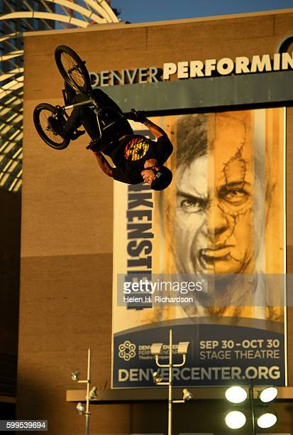 Nick Bruce of Hubbard Ohio catches some big air as he competes in the Firstever UCI World Cup for BMX Freestyle Park in the United States the third...