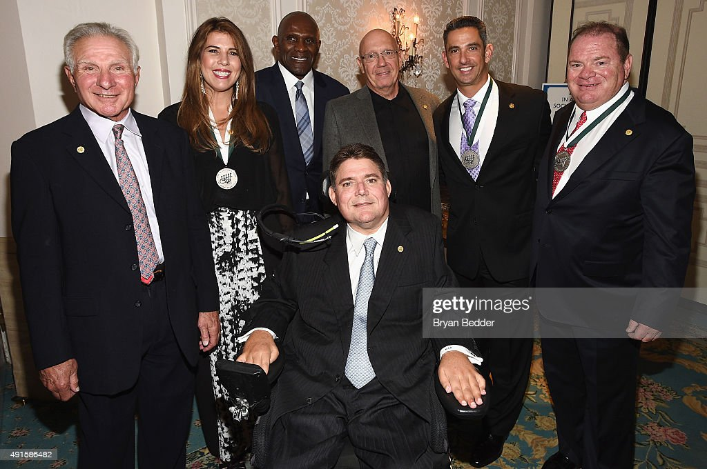 Nick Buoniconti, Jennifer Capriati, Harry Carson, Marc Buoniconti, Dann Florek Jorge Posada and Chip Ganassi attend the 30th Annual Great Sports Legends Dinner to benefit The Buoniconti Fund to Cure Paralysis at The Waldorf Astoria on October 6, 2015 in New York City.