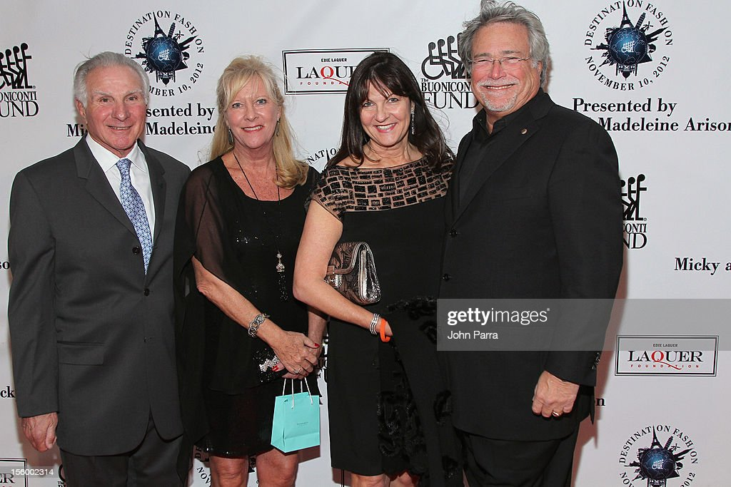 Nick Buoniconti, Lynn Buoniconti, Madeleine Arison, and Micky Arison attend Destination Fashion 2012 To Benefit The Buoniconti Fund To Cure Paralysis, the fundraising arm of The Miami Project to Cure Paralysis, on November 10, 2012 in Miami, Florida.