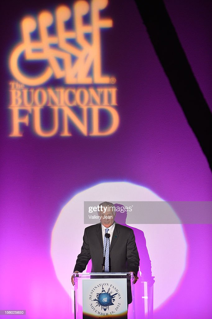 <a gi-track='captionPersonalityLinkClicked' href=/galleries/search?phrase=Nick+Buoniconti&family=editorial&specificpeople=795070 ng-click='$event.stopPropagation()'>Nick Buoniconti</a> speaks at Buoniconti Fund to Cure Paralysis' Destination Fashion 2012 at Bal Harbour Shops on November 10, 2012 in Miami, Florida.
