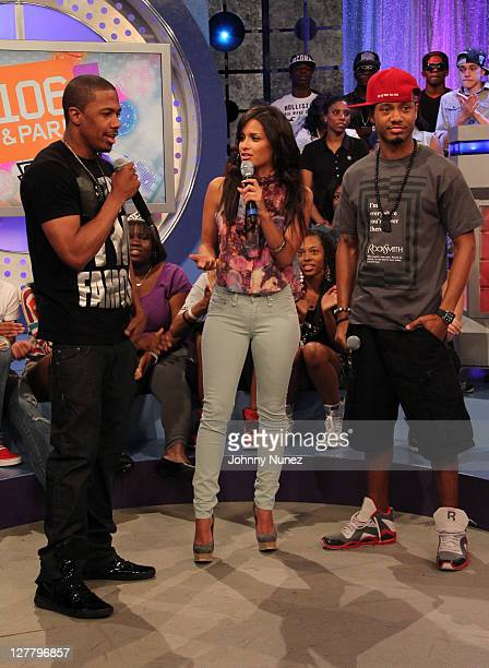Nick Cannon 106 Park Host's Rocsi and Terrence J visit BET's '106 Park' at BET Studios on June 3 2011 in New York City