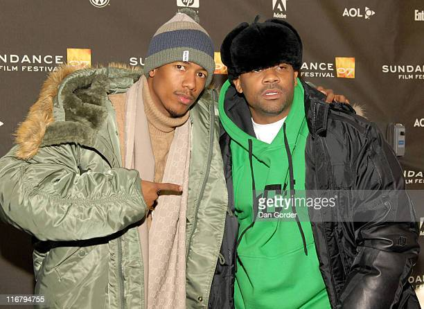 Nick Cannon and Damon Dash during 2007 Sundance Film Festival 'Weapons' Premiere at Racquet Club Theater in Park City Utah United States