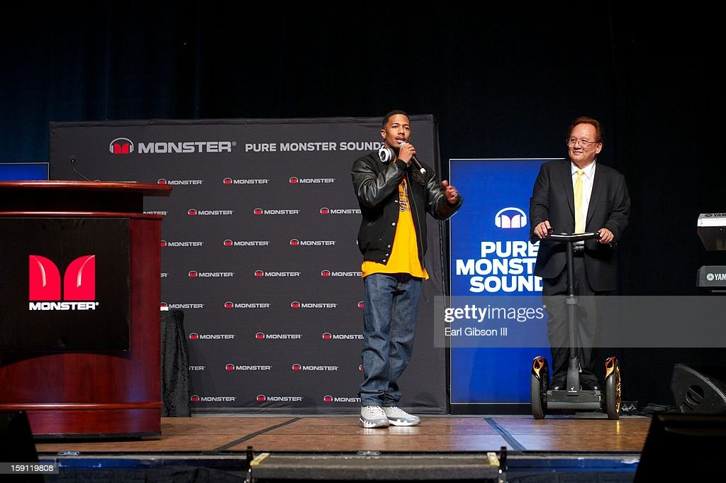 <a gi-track='captionPersonalityLinkClicked' href=/galleries/search?phrase=Nick+Cannon&family=editorial&specificpeople=202208 ng-click='$event.stopPropagation()'>Nick Cannon</a> and HeadMonster Noel Lee attend a Monster Conference at the Paris Hotel on January 7, 2013 in Las Vegas, Nevada.