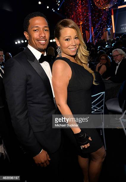 Nick Cannon and Mariah Carey attend the 20th Annual Screen Actors Guild Awards at The Shrine Auditorium on January 18 2014 in Los Angeles California
