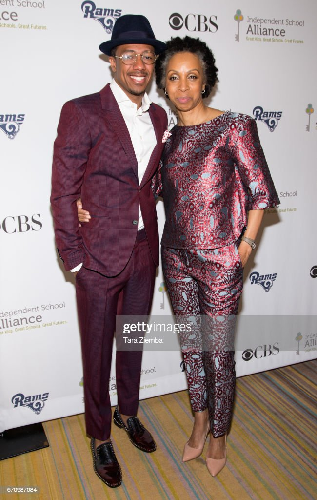 Nick Cannon and Nina Shaw attend the Independent School Alliance Impact Awards at the Beverly Wilshire Four Seasons Hotel on April 20, 2017 in Beverly Hills, California.