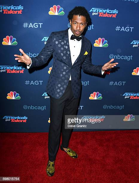 Nick Cannon arrives at at the America's Got Talent' Season 11 Live Show at Dolby Theatre on August 30 2016 in Hollywood California
