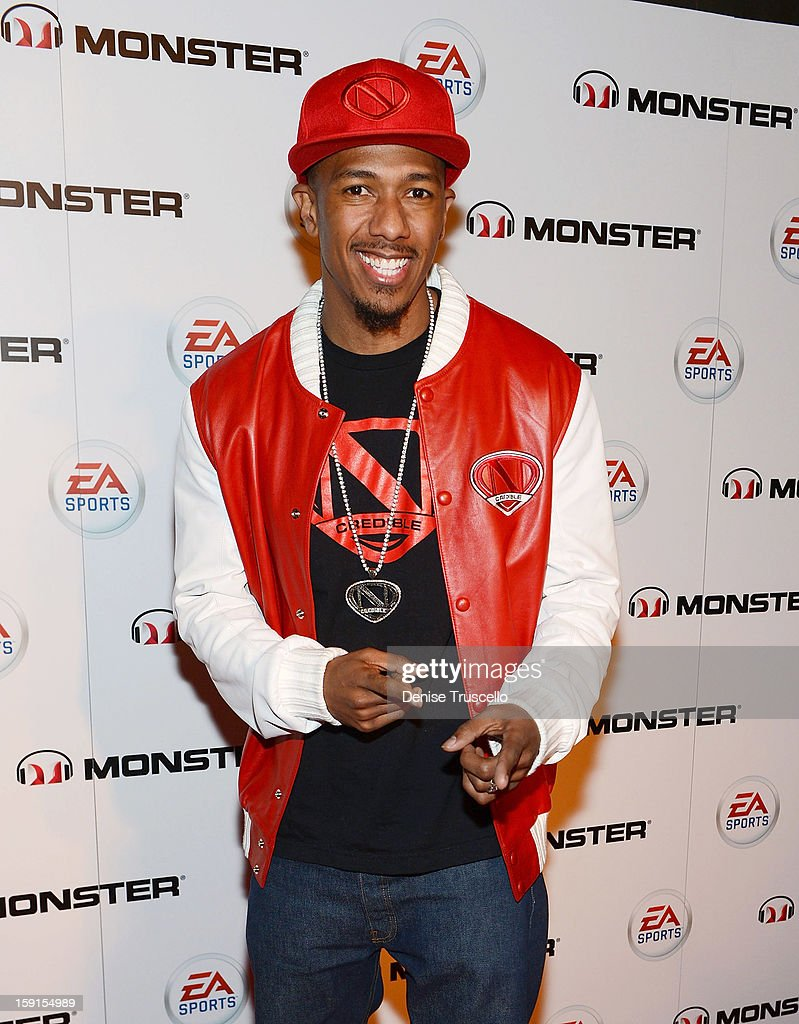 <a gi-track='captionPersonalityLinkClicked' href=/galleries/search?phrase=Nick+Cannon&family=editorial&specificpeople=202208 ng-click='$event.stopPropagation()'>Nick Cannon</a> arrives at EA Sports MVP Carbon by Monster exclusive headphone launch at The Act Nightclub on January 8, 2013 in Las Vegas, Nevada.