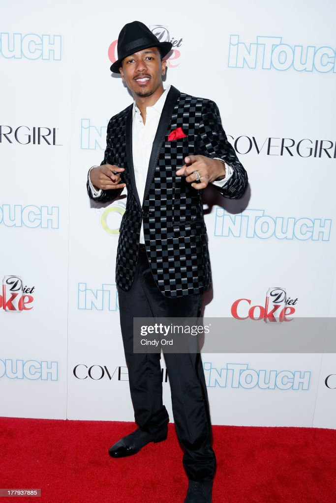 Nick Cannon arrives at Intouch Weekly's 'ICONS & IDOLS Party' at FINALE Nightclub on August 25, 2013 in New York City.