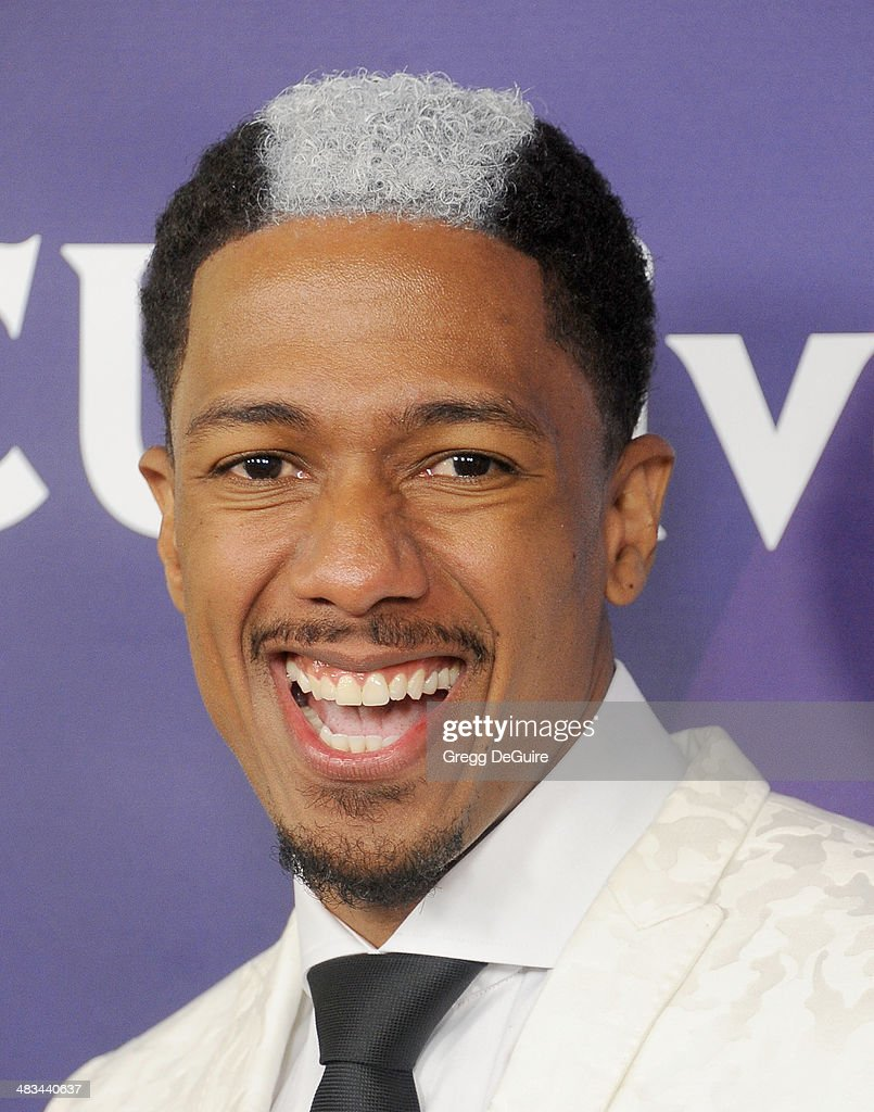 <a gi-track='captionPersonalityLinkClicked' href=/galleries/search?phrase=Nick+Cannon&family=editorial&specificpeople=202208 ng-click='$event.stopPropagation()'>Nick Cannon</a> arrives at NBC/Universal's 2014 summer Press Day at Langham Hotel on April 8, 2014 in Pasadena, California.
