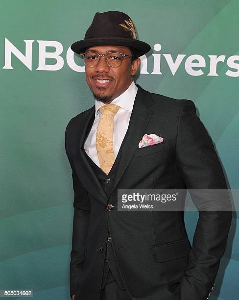 Nick Cannon arrives at the 2016 Winter TCA Tour NBCUniversal Press Tour Day 2 at Langham Hotel on January 14 2016 in Pasadena California