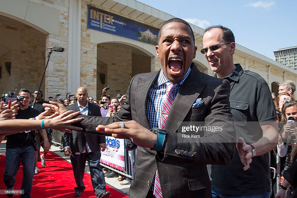Nick Cannon arrives at the 'America's Got Talent' Season 8 auditions at the Lila Cockrell Theatre on March 20, 2013 in San Antonio, Texas.
