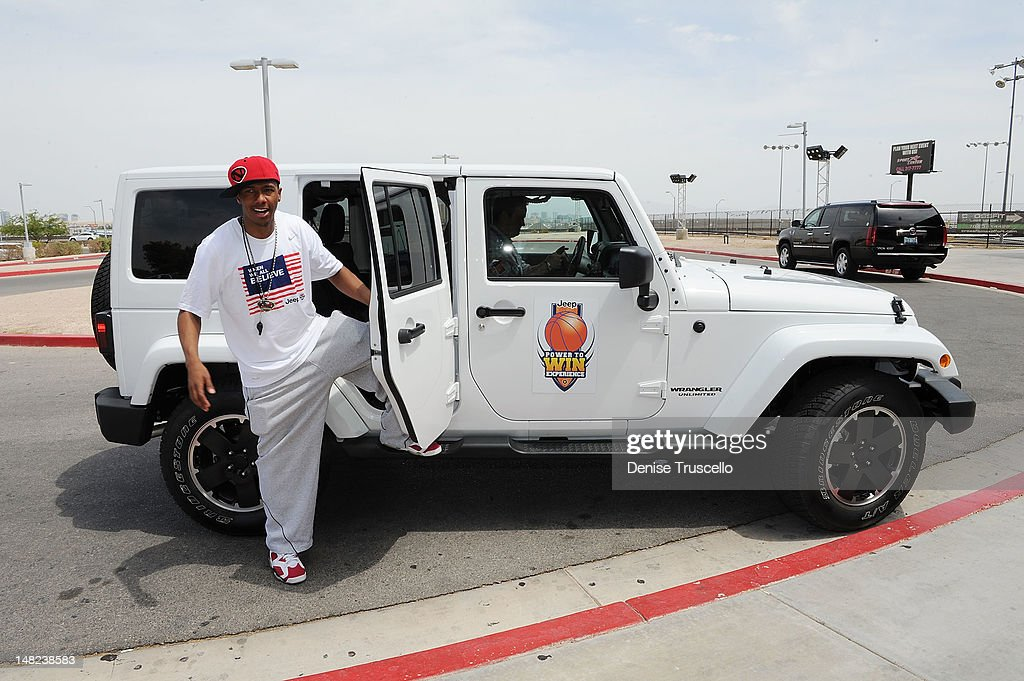 <a gi-track='captionPersonalityLinkClicked' href=/galleries/search?phrase=Nick+Cannon&family=editorial&specificpeople=202208 ng-click='$event.stopPropagation()'>Nick Cannon</a> arrives at the Jalen Rose Leadership Academy at Impact Basketball on July 12, 2012 in Las Vegas, Nevada.